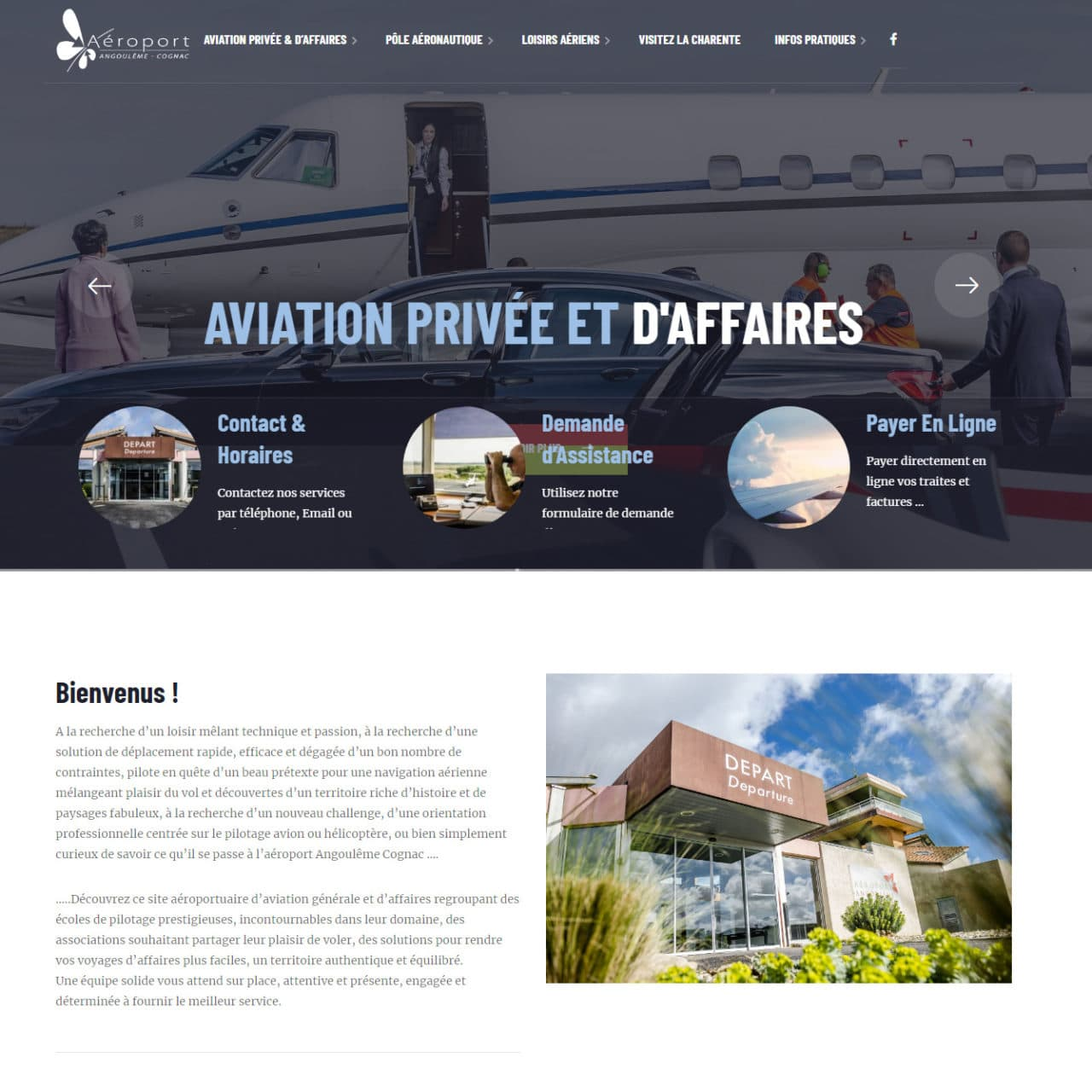 Site Vitrine Aéroport d'Angoulême