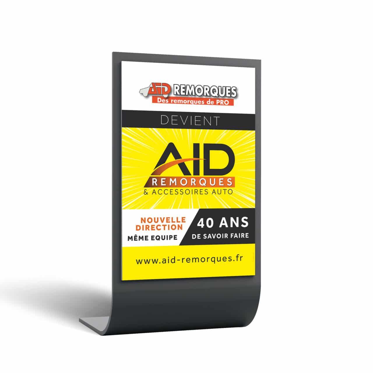 Affiche AID Remorques