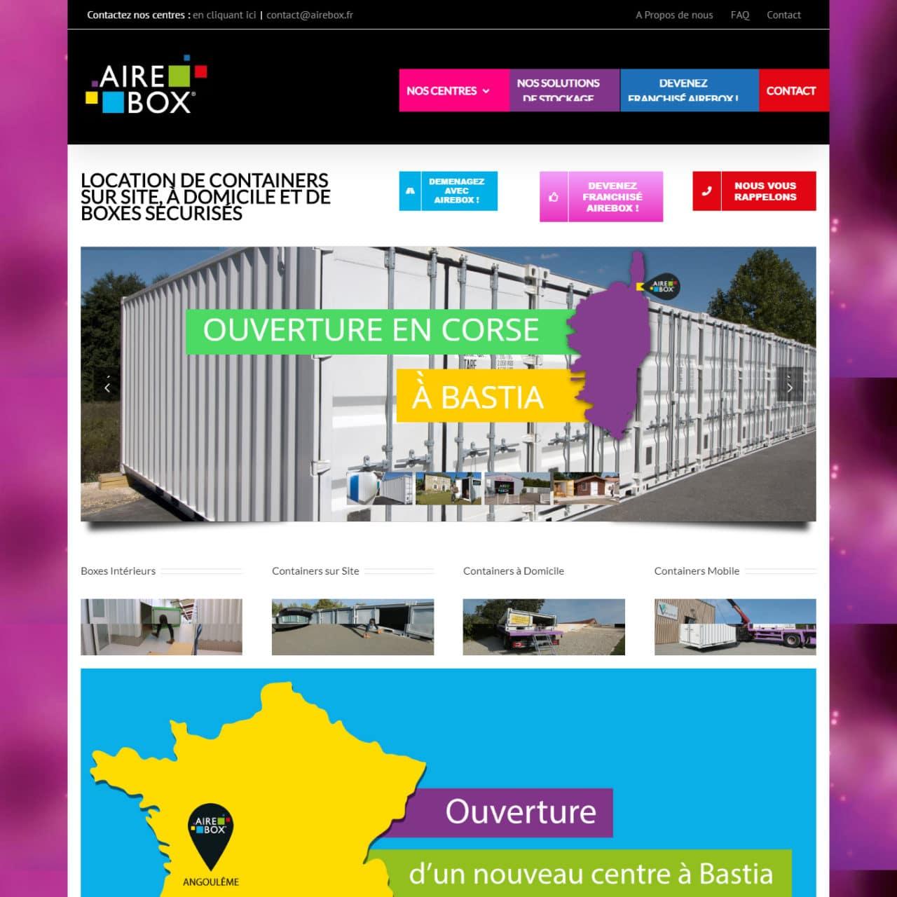 Site Vitrine Aire Box