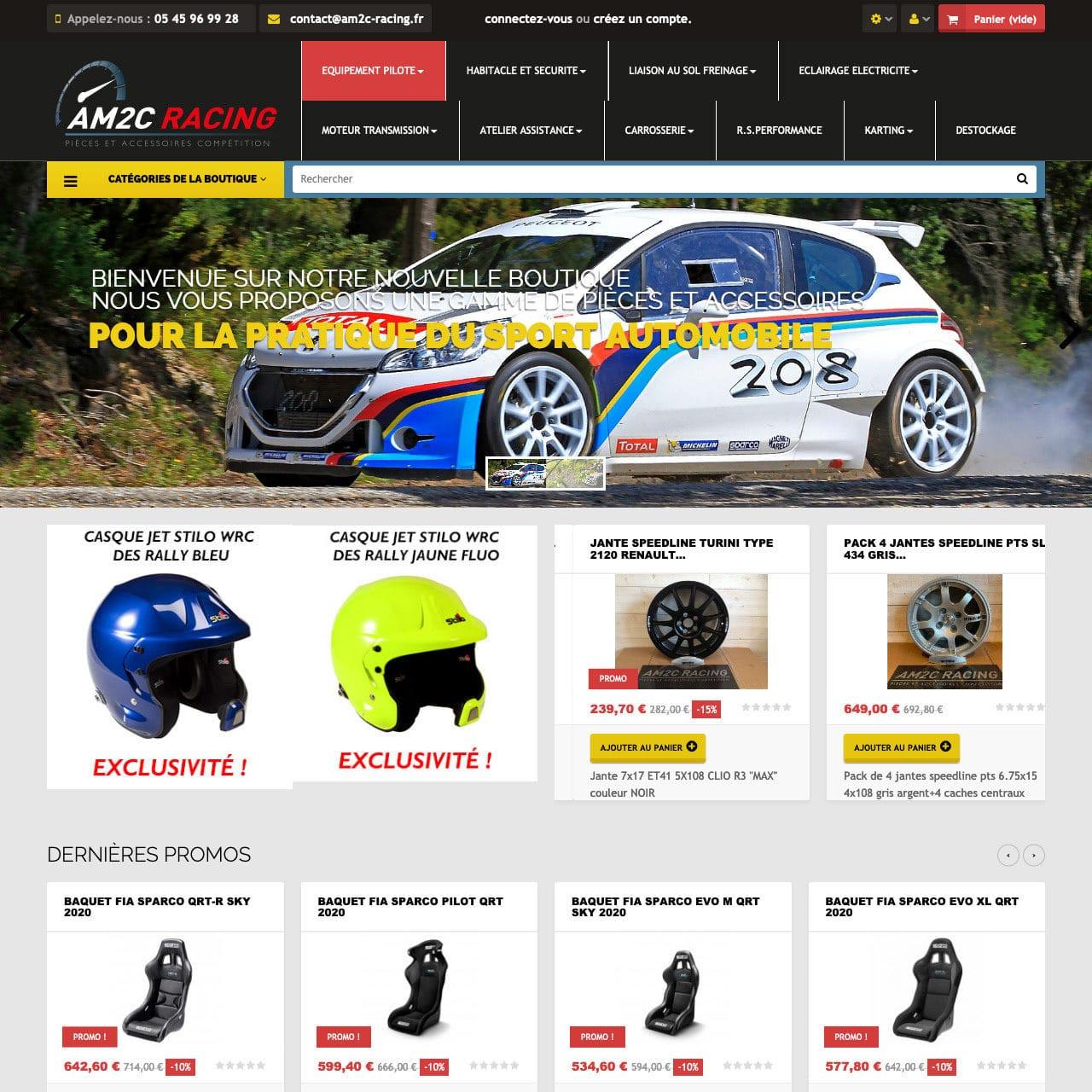 Site E-commerce Am2c-racing
