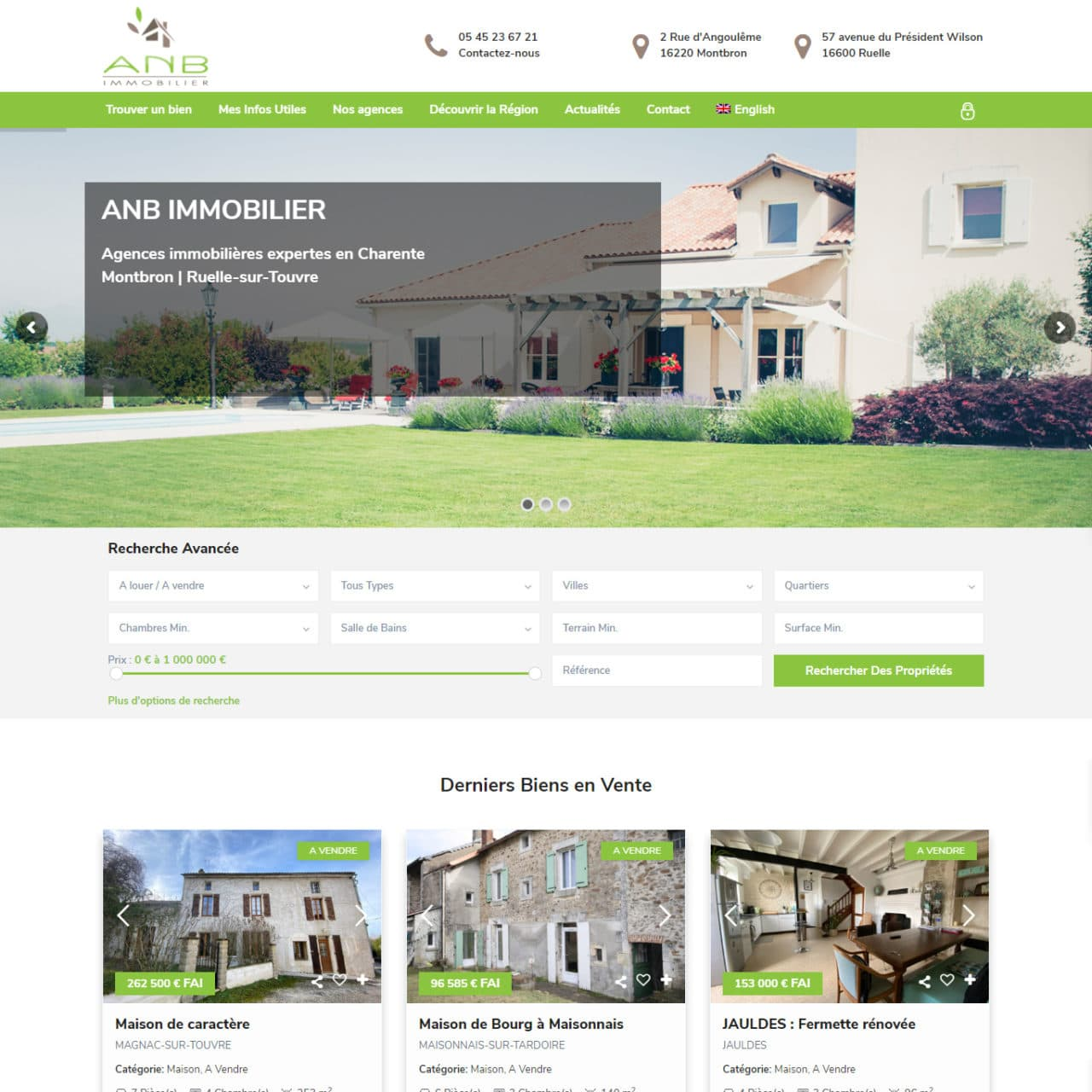 Site Immobilier ANB Immobilier