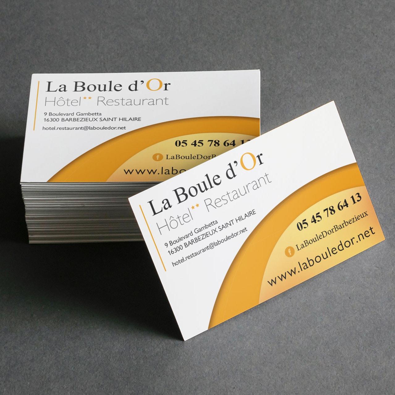 Carte de Visite La Boule D'Or