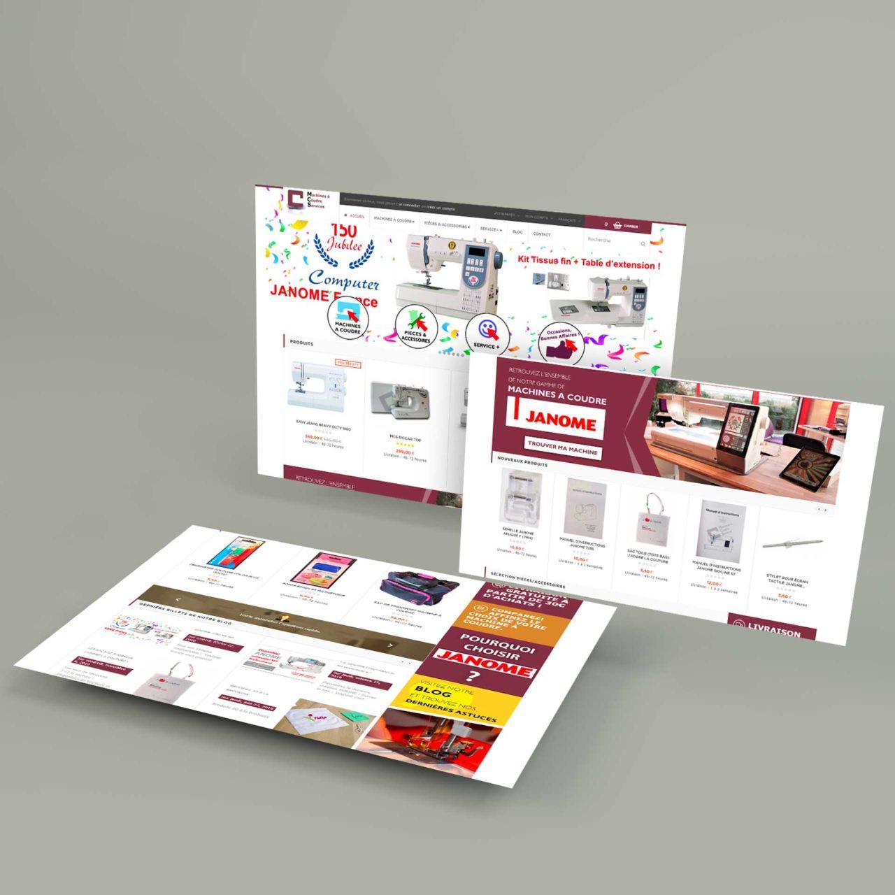 Site E-Commerce Machines à Coudre Services