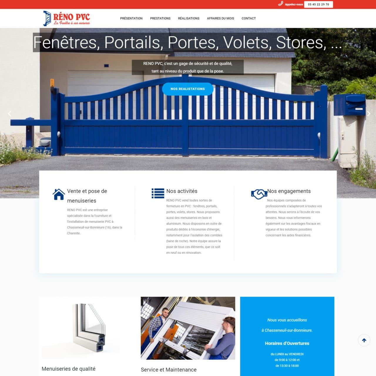 Site Vitrine Réno PVC