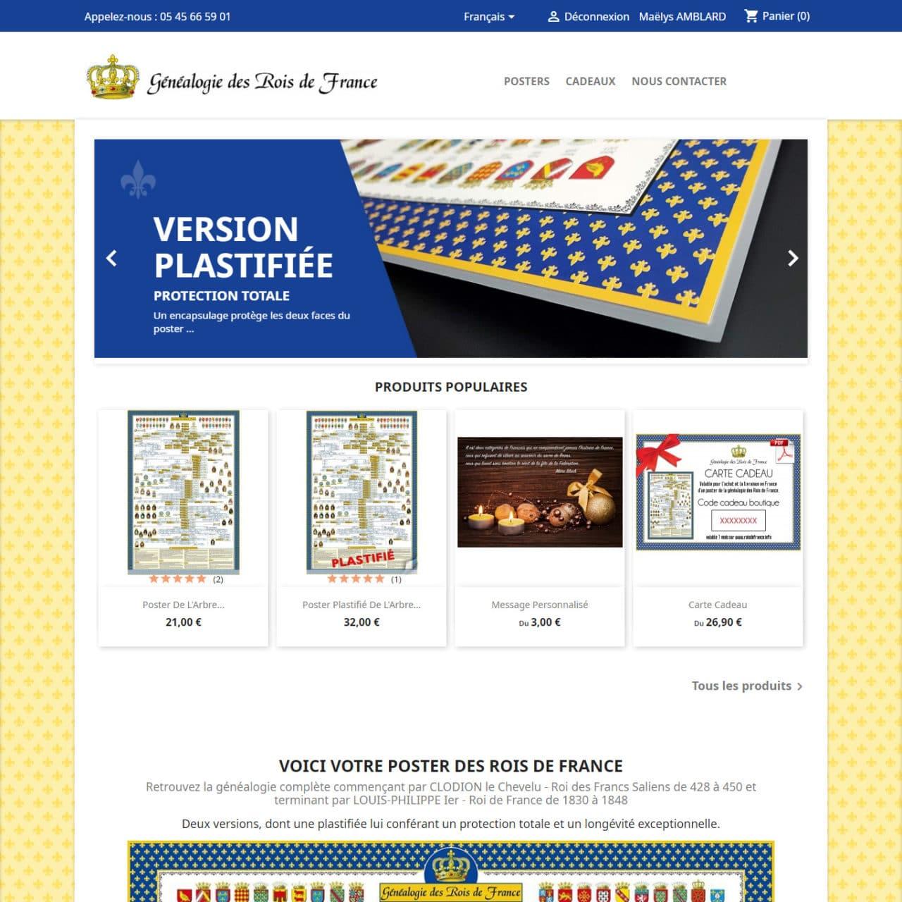 Site E-Commerce Rois De France